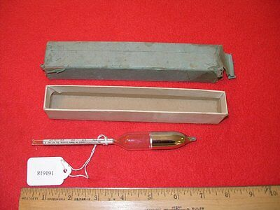 Vintage Baume Hydrometer 20 to 30 Baume Scale Heavy Liquids 60 Degrees