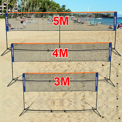 Portable Foldable 3/4/5M  Badminton Net Volleyball Tennis Nets With Frame Stand