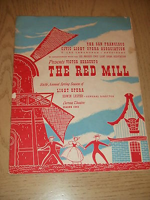 SIGNED 1945 The Red Mill Program San Francisco CLO CA OWNED BY EDDIE FOY JR III