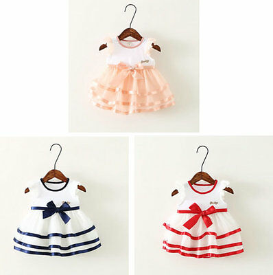 Summer Holiday Girl Kids Baby Pageant Party Dress Tutu Clothing Princess Dresses