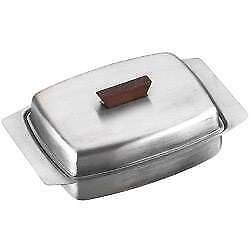 Traditional Stainless Steel Butter Dish With Lid - Free Shipping