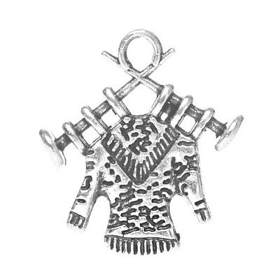 Knitting Charm/Pendant Tibetan Antique Silver 19mm  10 Charms Accessory Crafts