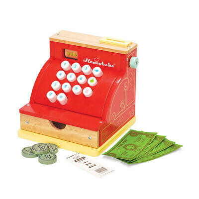 "Le Toy Van TV295 Honeybake Kaufladen Kasse rot ""Cash Register"" Holz NEU!     #"