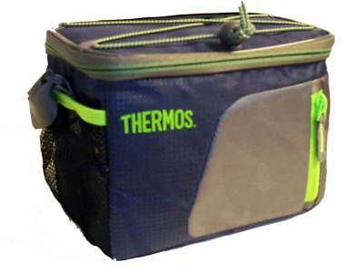 Thermos 6 Can Insulated Bag Cool Cooler Navy - Camping Storage Picnic