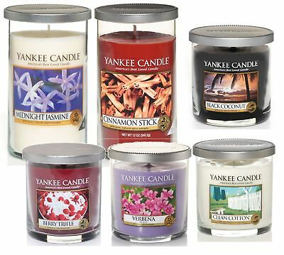 Yankee Candle Decor Pillar Fragranced Candles Choose Your Size and Scent