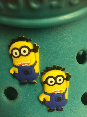 2 Despicable Me Minions Shoe Charms For Crocs and Jibbitz Wristbands Free UK P&P