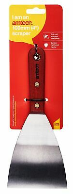 "4"" Scraper Paint Steel Blade Wallpaper Decorating Remover Tool New Heavy Duty"