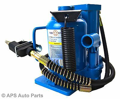 20T Ton Air and Manual Hydraulic Bottle Jack Lift Heavy Duty Auto Truck Repair