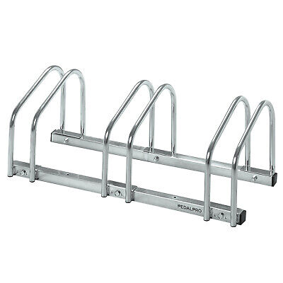 Pedalpro 3 Bicycle Floor/wall Mount Storage Rack Bike/cycle Locking/garage Stand
