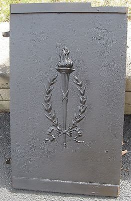 Victorian Iron Ornate Symbolic Torch Coal Door/fireplace Recess In Wall Pa Find