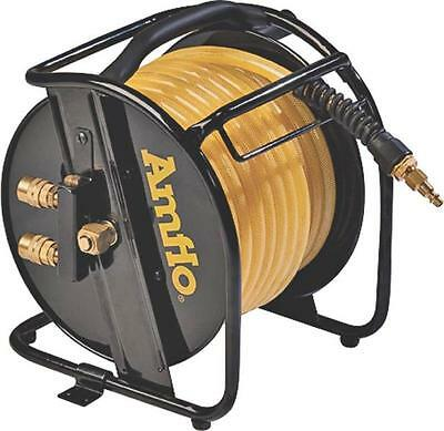 "New Plews Amflo 545Hr-Ret 3/8"" X 75 Foot Portable Air Hose And Reel All Steel"