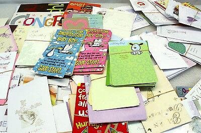 Lot of Birthday Sympathy Anniversary Congratulations Greeting Cards w/ Envelopes