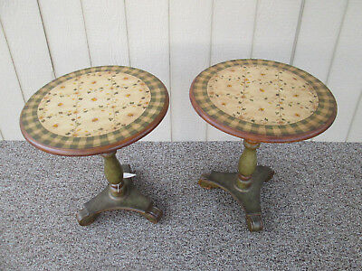55688 Pair Decorator Lamp Table Stand s