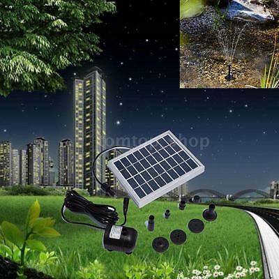 NEW Small Type Landscape Pool Garden Fountains 9V 2W Solar Power Water Pump H0W2