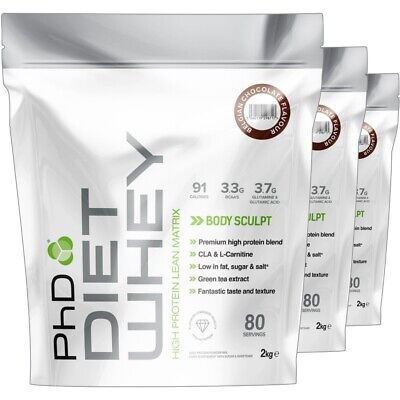 PhD Nutrition Diet Whey Protein 500g 1Kg 2Kg Weight Loss Shake Meal Replacement