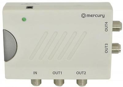 Mercury 130.035 Distribution Signal Amplifiers With DC Pass And 4 Outputs - New