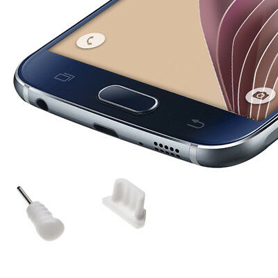 kwmobile  DUST PROTECTION SET FOR SMARTPHONES WHITE PLUG PIN PEG PORT DUST