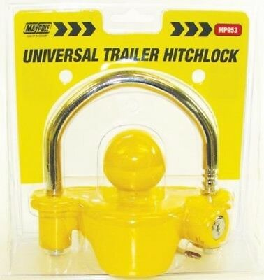 Maypole Universal Secure Trailer Tow Hitch Coupling Lock | Caravan Motorhome