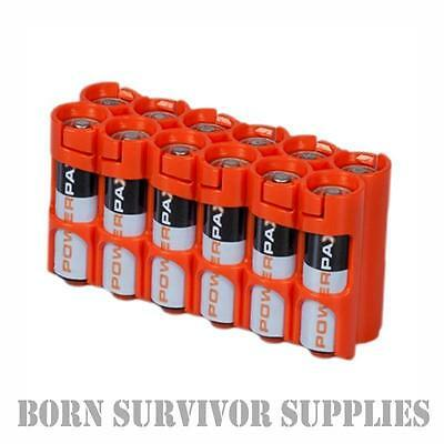 POWERPAX STORACELL BATTERY HOLDER - Holds 12 x AA Batteries Storage Caddy Travel