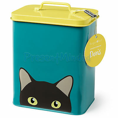 BURGON & BALL Doris Cat Tin - Animal Storage Tin Container Cat Lover Gift Idea