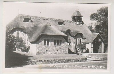 Isle of Wight postcard - St Agnes Church, Freshwater Bay - RP