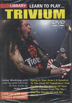 Learn to Play Trivium Lick Library Guitar 2 DVD Set Tuition Method How