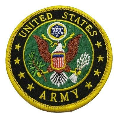 United States Army Logo Embroidered 3 Inch Iron on Patch Silver USA NEW