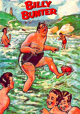 A4 Poster BILLY BUNTER Greyfriars Magnet Valiant TV Comic Retro Art Print 1930's