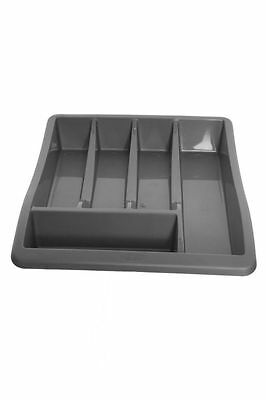 150402 Plastic Cutlery Tray Draw Organiser 300mm - Black H13106