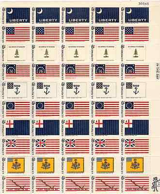 Scott #1345/54...6 Cent...Flags...Sheet of 50 Stamps