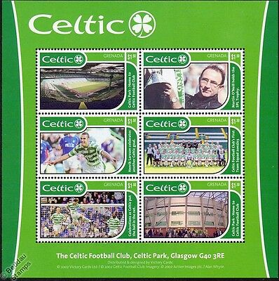 CELTIC Football Club Stamps (2002 Grenada Minisheet) SG MS4810 / #3293 (Soccer)