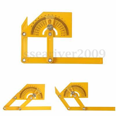 HQ Angle Engineer Protractor Finder Measure Arm Ruler Gauge Tool+ Brass Fittings