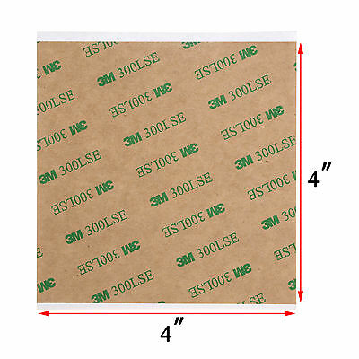 """4""""X4"""" 3M 300LSE Double Sided - SUPER STICKY HEAVY DUTY SHEET OF ADHESIVE TAPE"""