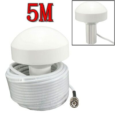 GPS Receiver Antenna BNC Male Plug Connector 5 Meters External Marine Boat