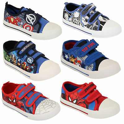 Boys Avengers Spiderman Star Wars Trooper Trainers Kids Paw Patrol Marvel Pumps