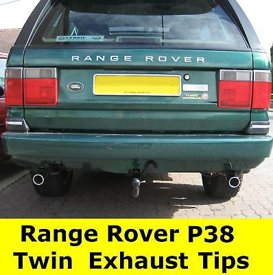 Chrome stainless steel EXHAUST TIP tail pipes for Range Rover P38 V8 LPG HSE