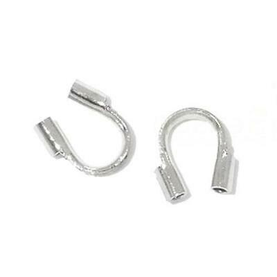 150+ Antique Silver Plated Brass Horse Shoe Wire Guardians 5 x 6mm HA11595