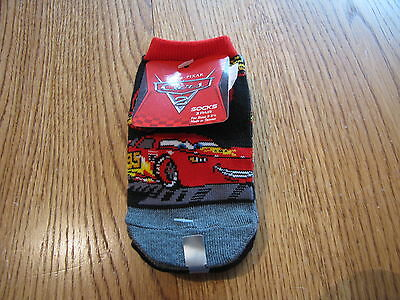 Disney Pixar  Cars boy's baby socks 3 pack variety size 6-8 1/2 40975-0311 NEW