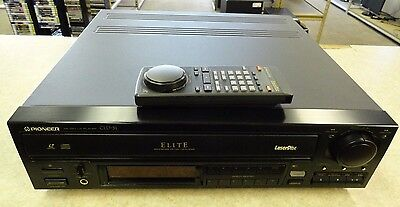 Pioneer Elite CLD-31 LaserDisc CDV CD Player - Remote - 3 LD Discs - PLEASE READ