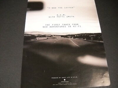 R.E.M. with PATTI SMITH say E-BOW THE LETTER 1996 Promo Display Advert mint cond