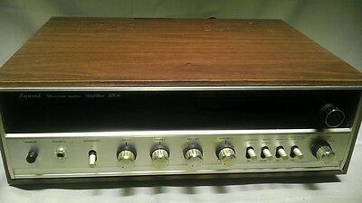 Sansui Stereo Tuner Amplifier Solid State 350A Vintage - With Manual & Service