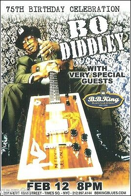 Bo Diddley 75th Birthday Concert Handbill Mini-Poster BB Kings NYC Blues