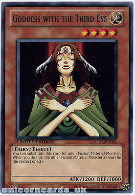 GLD4-EN004 Goddess with the Third Eye Limited Edition Mint YuGiOh Card
