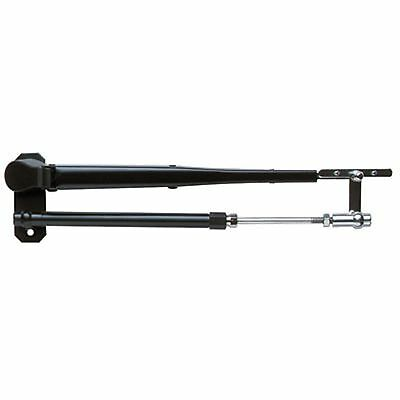 """Boat Windshield Adjustable Pantographic Wiper Arm 17"""" - 22"""" Black SS"""