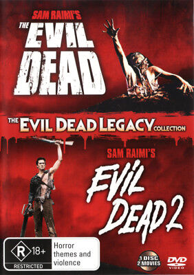 The Evil Dead + The Evil Dead 2 DVD R4 Brand New!