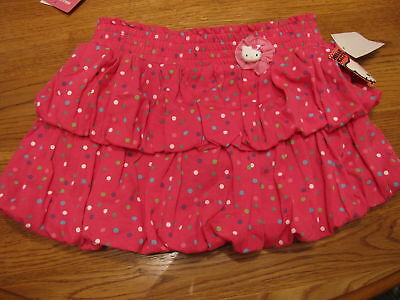 Girls Hello Kitty Dots Bows HK56149 skort 6 pink NWT youth NEW ^^