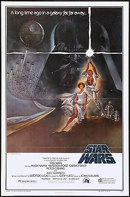 1970's Sci-Fi  * Star Wars * Style A Movie Poster 1977  13x19