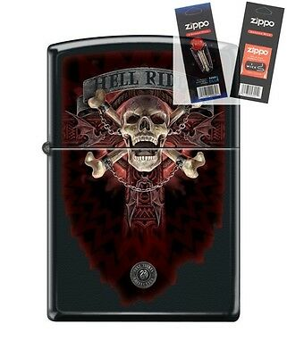 Zippo 218 Anne Stokes Hell Rider Lighter with *FLINT & WICK GIFT SET*