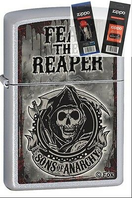 Zippo 28502 sons of anarchy fear Lighter with *FLINT & WICK GIFT SET*