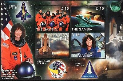 Laurel Clark: NASA STS-107 Space Shuttle COLUMBIA Astronaut Stamp Sheet